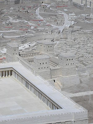 Antonia Fortress - A model of the Antonia Fortress – currently in the Israel Museum