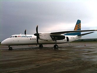 Merpati Nusantara Airlines - Merpati's new MA60, PK-MZJ parked at El Tari Airport, Kupang, in January 2011