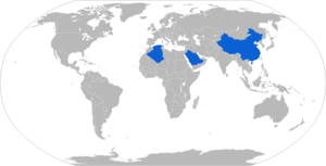 PLZ-45 - Map with PLZ-45 operators in blue