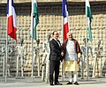 PM and French President at Rock Garden, Chandigarh (24783706596).jpg