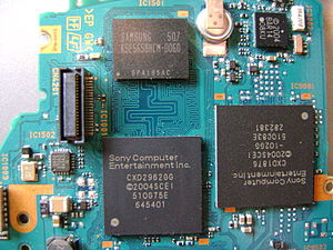 PlayStation Portable - The main CPU, PSP Media Engine and the NAND flash for the System Software (TA-079)