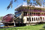 The PS Murray Princess is the largest paddlewheeler operating on the Murray river