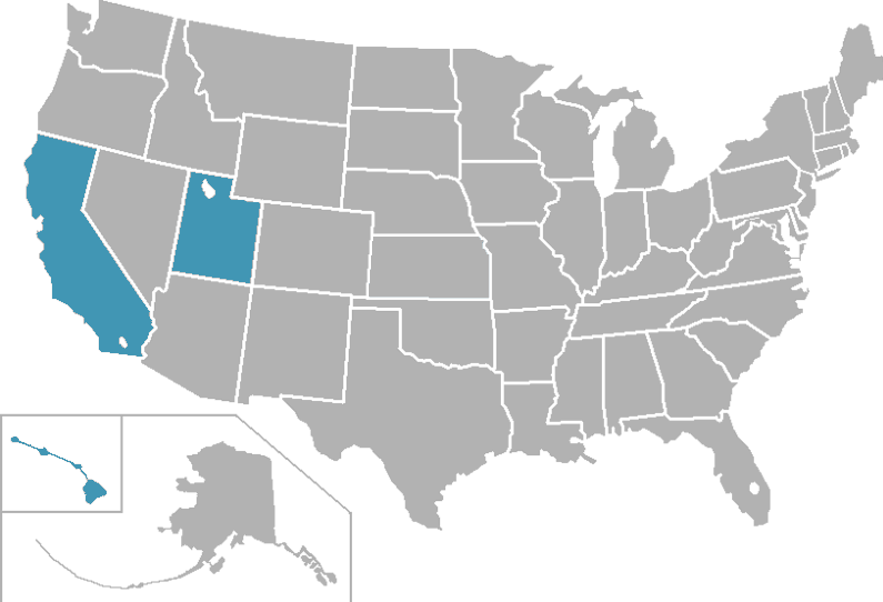 Pacific West Conference locations
