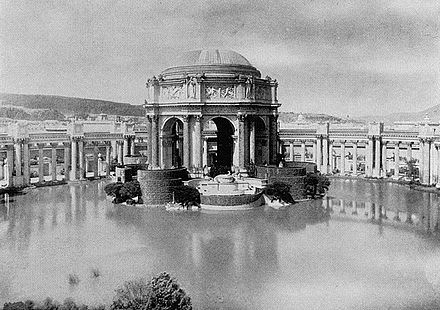 The Palace of Fine Arts at the 1915 Panama-Pacific Exposition PalaceofFineArts1915.jpg