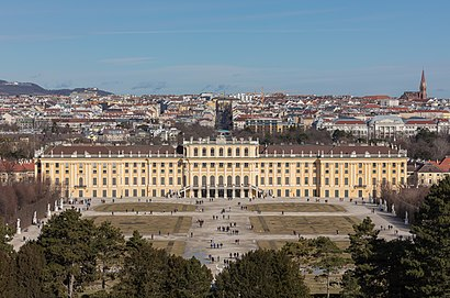 So kommt man zu Schloss Schönbrunn mit den Öffentlichen - Mehr zum Ort Hier