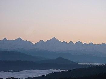 Panchchuli range viewed from Kausani.jpg