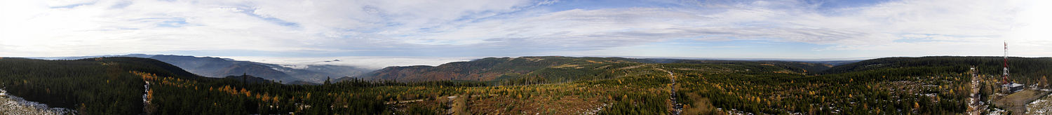 360 degree view from Hohloh, Northern Black Forest