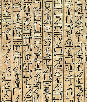 Logogram - Egyptian hieroglyphs, which have their origins as logograms.