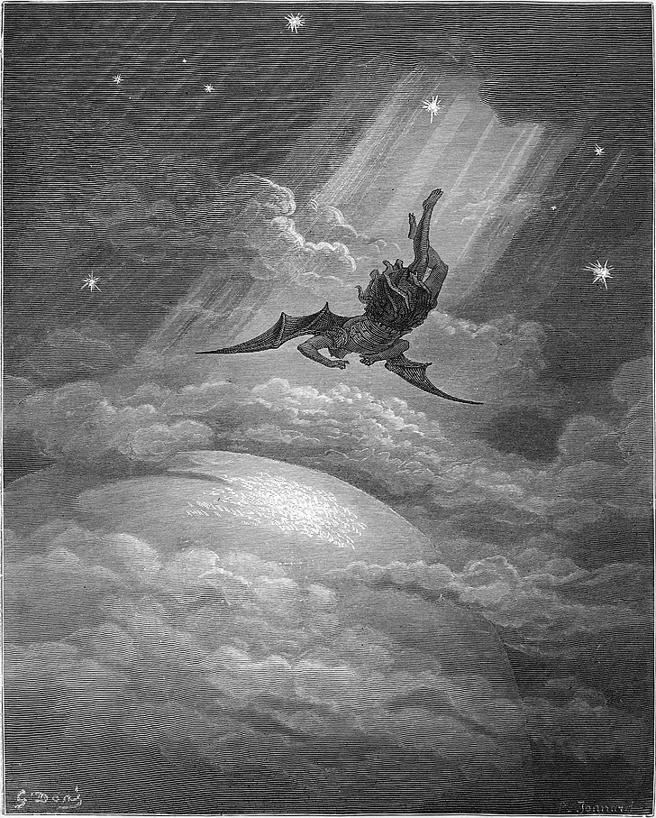 Satan falling from heaven