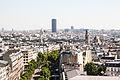 Paris and Tour Montparnasse from the Arc de Triomphe, Paris 20 August 2013.jpg