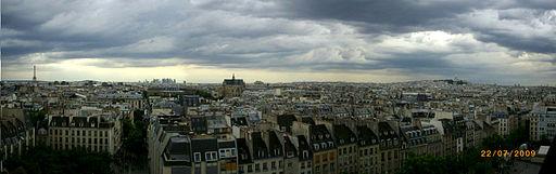 Paris panorama Pompidou