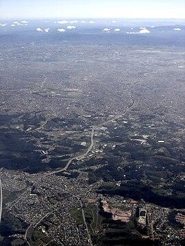 Visão aérea do Parque do Carmo.