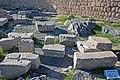 Parts of dedicatory exedrae on acropolis of Lindos.jpg