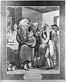 Patients consulting an obese quack. Aquatint by T. Rowlandso Wellcome L0014209.jpg