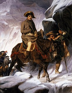 <i>Bonaparte Crossing the Alps</i> 1848 painting by Paul Delaroche