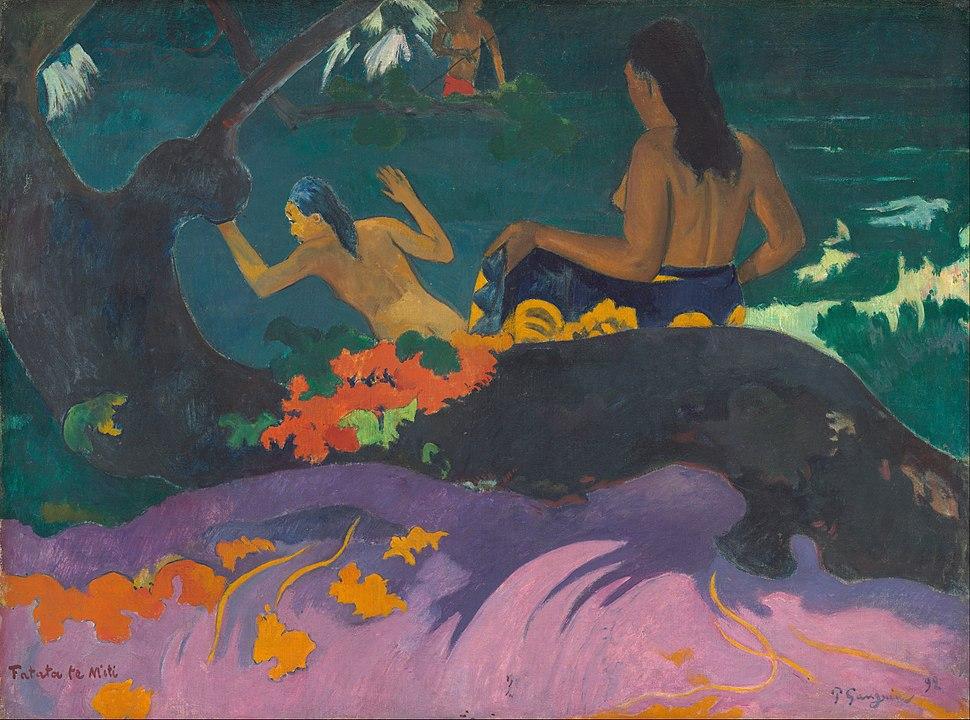 Paul Gauguin - Fatata te Miti (By the Sea) - Google Art Project
