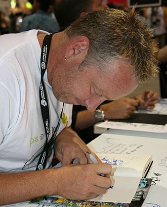 Paul Jenkins (writer) - Jenkins at a fan convention in 2006