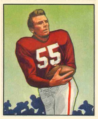 Paul Salata - Salata on a 1950 Bowman football card