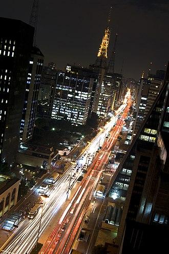Economy of São Paulo - Paulista Avenue is the international financial centre of the city.