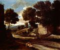 Paysage avec des voyageurs au repos - Poussin - National Gallery London.jpg