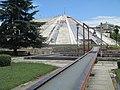 Peace bell & pyramid in Tirana.JPG