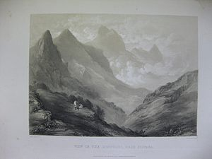View in the Koondahs, near Sispara, <1847