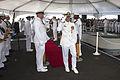 Pearl Harbor Sailors bid farewell to USS Port Royal Skipper 141031-N-IU636-181.jpg