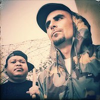 Double K and Thes One of Los Angeles Hip Hop Group People Under the Stairs