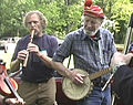 Pete Seeger & William Waterway jamming in Pete's home town of Beacon, New York.jpg