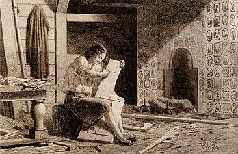Peter I in Workshop by M.Klodt (1872).jpg