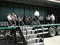 Petersfield Salvation Army Band performing on a lorry - geograph.org.uk - 1251743.jpg