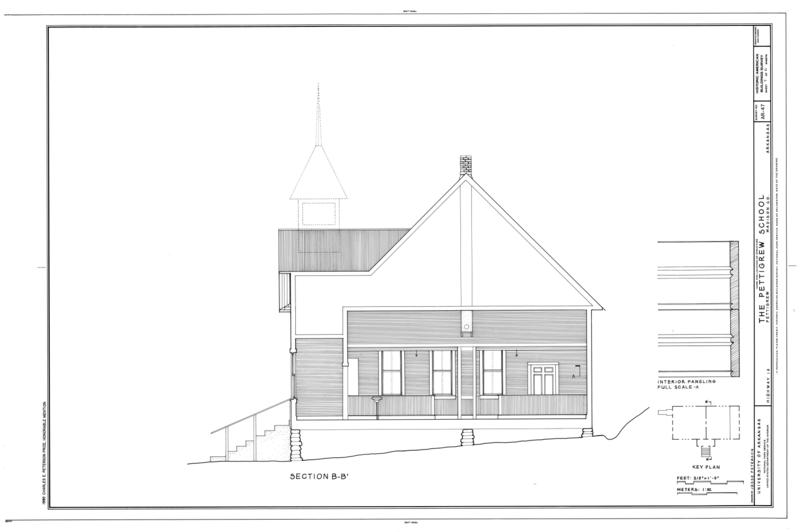 File:Pettigrew School, Across White River from Highway 16, Pettigrew, Madison County, AR HABS ARK,44-PETIG,1- (sheet 7 of 11).png