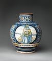 Pharmacy jar with the Apollo Belvedere and King David MET DP310137.jpg
