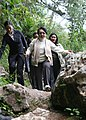 Philippine President Gloria Macapagal Arroyo during her visit to the caves in Sagada, Mountain Province (02).jpg