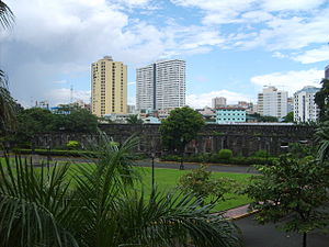 Plaza de Armas (Manila) - The Plaza de Armas is the only green space in Fort Santiago, surrounded by plants and the fort's ruins