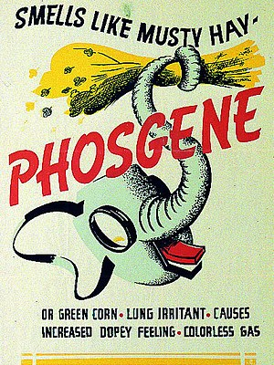 Phosgene - US Army phosgene identification poster from World War II