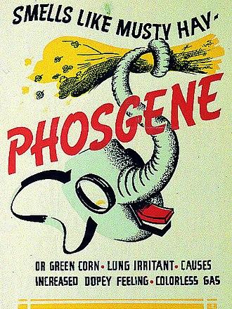 Phosgene - US Army phosgene identification poster from World War II