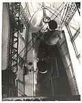 Photograph Looking Down in Emergency Control Station of a Dirigible , ca. 1933 (7951500278).jpg
