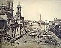 Piazza Navona senza selciato con mercato ca 1870 (non virata).jpg