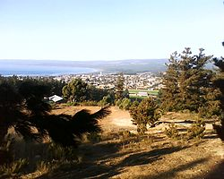 Pichilemu, viewed from La Cruz Hill in March 2010. Image: Diego Grez.
