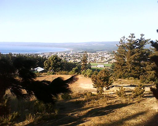 Pichilemu viewed from La Cruz Hill, March 2010