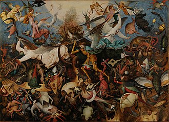 War in Heaven - The Fall of the Rebel Angels, by Pieter Bruegel the Elder