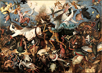 The Fall of the Rebel Angels (Bruegel) - Image: Pieter Bruegel the Elder The Fall of the Rebel Angels RMFAB 584 (derivative work)