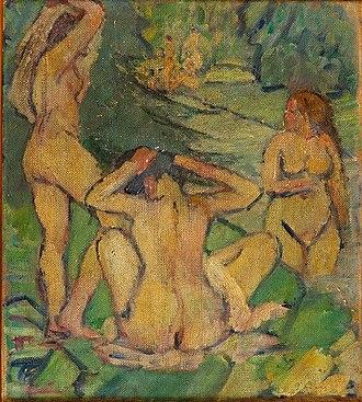 Museum of Contemporary Art, University of São Paulo - Image: Pietro Marussig Mulheres à beira do riacho, 1915