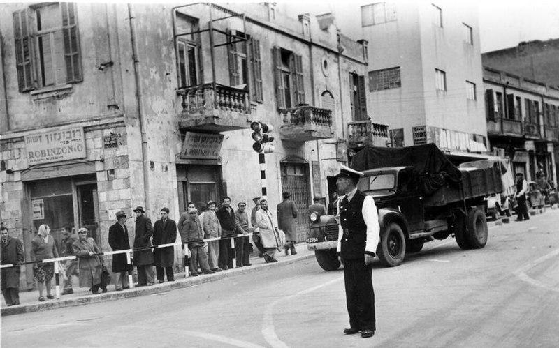 הרמזור הראשון בתל אביב
