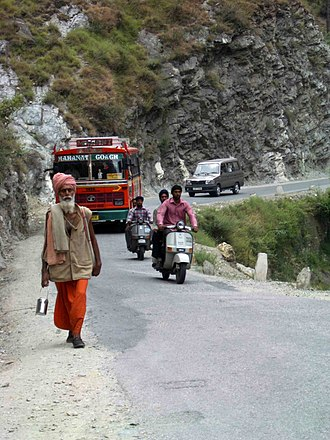 Pilgrimage - Pilgrims on their way to Manikaran, Himachal Pradesh, India, in 2004