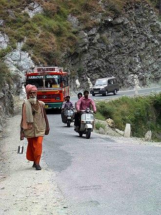 Pilgrimage - Pilgrims on their way to Manikaran, Himachal Pradesh, India, in 2004