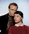 Pina Pellicer and Marlon Brando publicity photo One-Eyed Jacks (1961).jpg