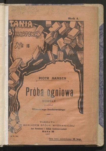 File:Piotr Nansen - Próba ogniowa.djvu