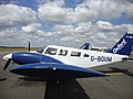Piper PA-34 Seneca on the apron of London Oxford Airport, Oxfordshire, UK - 20130124.jpg